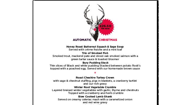 Automatic Restaurant Christmas menu